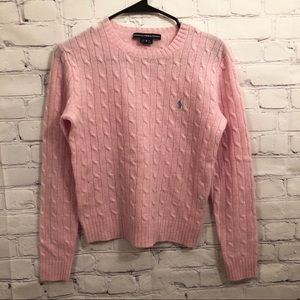 Ralph Lauren Sport pink lambs wool sweater